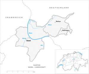 Detail map of Basel-Stadt