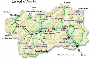 Detail map of Valle d'Aosta