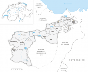 Detail map of Appenzell Ausserrhoden
