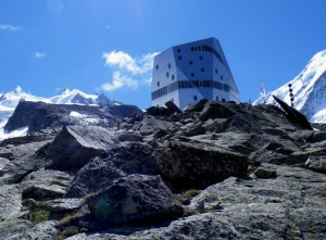 Photo of the Monte Rosa Hut
