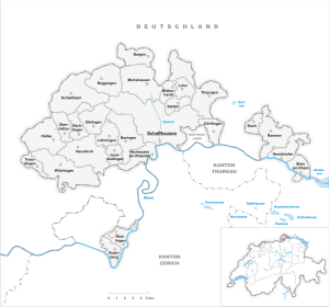 Detail map of Schaffhausen
